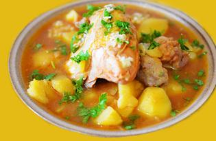 Жаркое из курицы с томатом (пошаговый фото рецепт)