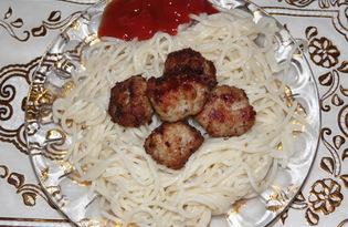 Спагетти с тефтельками (пошаговый фото рецепт)