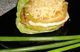 Мини тортик из кабачка (пошаговый фото рецепт)