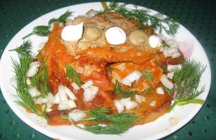 Свинина с картофелем под томатным соусом (пошаговый фото рецепт)