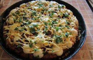 Пышная пицца по-американски (пошаговый фото рецепт)