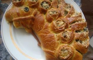 """Пирог с курицей и зеленым луком """"Белогривый конь"""" (пошаговый фото рецепт)"""