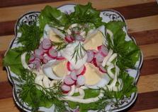 Легкий салат с сыром сулугуни (пошаговый фото рецепт)