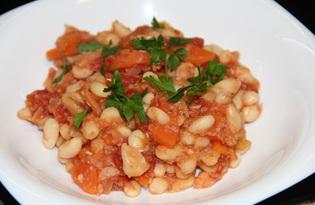 Фасоль с морковью в томатном соусе (пошаговый фото рецепт)