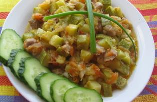 Кабачковое рагу со свининой (пошаговый фото рецепт)