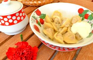 Пельменное тесто на кефире (пошаговый фото рецепт(