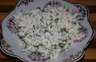 Закуска или начинка из творога с зеленью (пошаговый фото рецепт)
