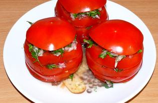 Помидор с зеленью, чесноком и редисом (пошаговый фото рецепт)