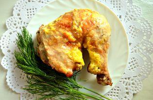 Куриный окорочок, запеченный в соевом соусе и майонезе (пошаговый фото рецепт)