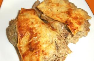 Рулет из лаваша с мясной начинкой (пошаговый фото рецепт)