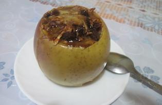 Запечённые яблоки с сыром Сулугуни и изюмом (пошаговый фото рецепт)
