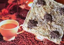 Бисквитный мини-торт с банановым кремом (пошаговый фото рецепт)