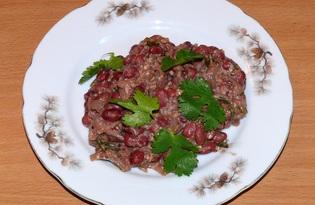 Лобио из красной фасоли с орехами (пошаговый фото рецепт)