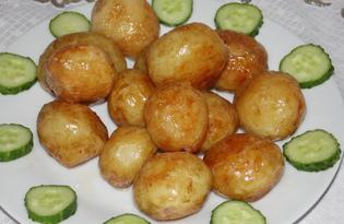 Молодой картофель, обжаренный с чесноком (пошаговый фото рецепт)