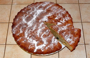Кекс с изюмом, яблоками и орехами (пошаговый фото рецепт)