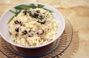 Рис с нори и шпинатом (пошаговый фото рецепт)