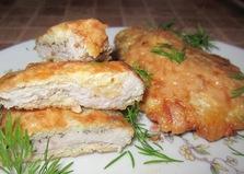 Свиные отбивные в сырной панировке (пошаговый фото рецепт)