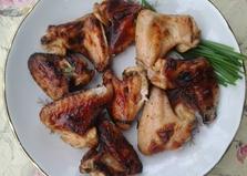 Шашлык из крылышек в маринаде из кефира (пошаговый фото рецепт)