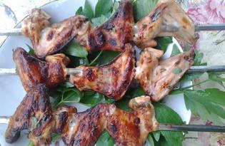 Крылышки гриль, маринованные в майонезе с любистоком (пошаговый фото рецепт)