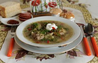 Щи с фрикадельками и зеленой фасолью (пошаговый фото рецепт)
