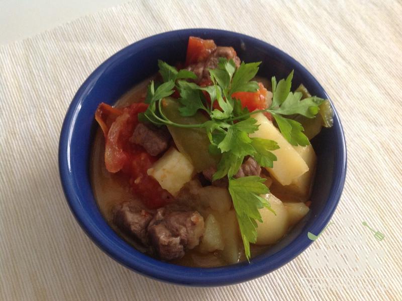 Мясо с картофелем в скороварке, тушеная картошка 76
