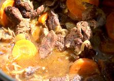 Говядина тушеная в казане (пошаговый фото рецепт)