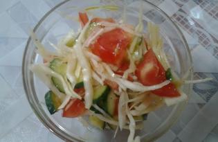 Салат из свежих овощей с соевым соусом (пошаговый фото рецепт)