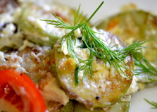 Кабачки с чесноком и помидором (пошаговый фото рецепт)