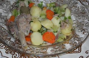 Овощное рагу с гусиными голенями (пошаговый фото рецепт)