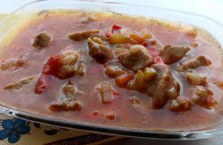 Гуляш из свинины по-венгерски с овощами (пошаговый фото рецепт)