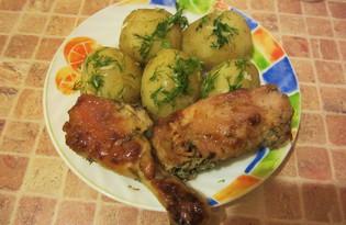Куриные окорочка в чесночном соусе (пошаговый фото рецепт)