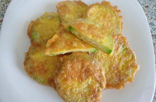Кабачки в кляре из твердого сыра и кунжута (пошаговый фото рецепт)