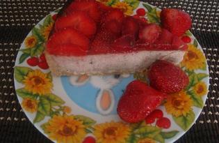Клубнично - банановый чизкейк (пошаговый фото рецепт)