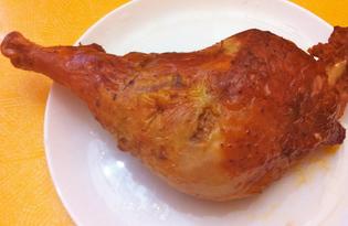 Бедро индейки, запеченное в фольге (пошаговый фото рецепт)