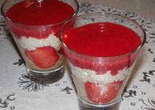 Клубнично - творожный десерт (пошаговый фото рецепт)