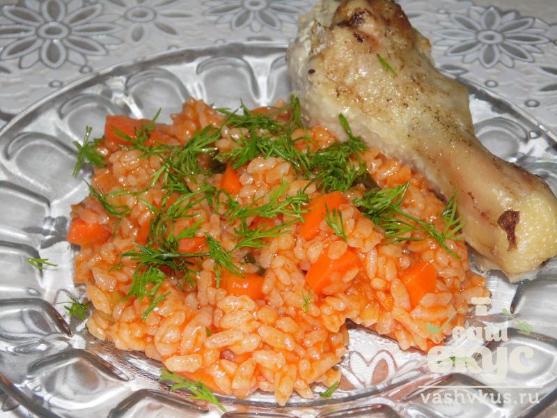 Рис с овощами и томатной пастой рецепт 10