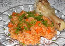 Рис с томатной пастой (пошаговый фото рецепт)