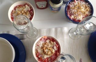 "Салат из курицы, помидора и яйца ""Кармен"" (пошаговый фото рецепт)"