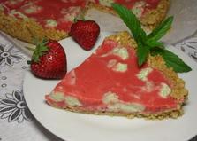 Клубнично - мятный чизкейк (пошаговый фото рецепт)