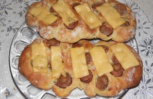 Плюшки с сосисками и сыром (пошаговый фото рецепт)