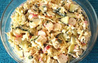 Крабовый салат с белокочанной капустой (пошаговый фото рецепт)