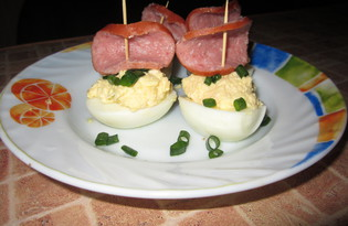 """Острая закуска из сыра и яиц """"Кораблики"""" (пошаговый фото рецепт)"""