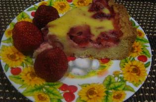 Клубничный пирог (пошаговый фото рецепт)