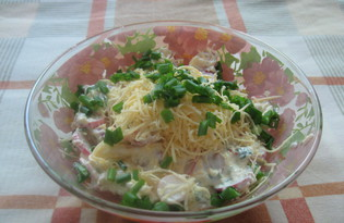 Салат из редиса и сыра (пошаговый фото рецепт)