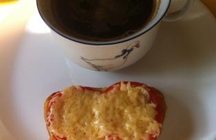 Пикантные бутерброды с томатом и сыром (пошаговый фото рецепт)