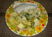 Рыба на пару с овощами (пошаговый фото рецепт)