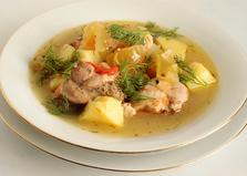 Курица тушеная с картофелем (пошаговый фото рецепт)