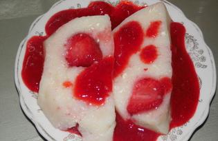 Клубничный десерт из манки (пошаговый фото рецепт)