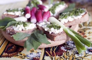 Гренки с козьим сыром (пошаговый фото рецепт)