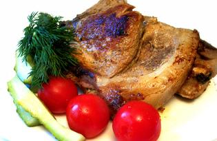 Антрекот свиной в горчичном соусе (пошаговый фото рецепт)